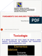 1fundamentos análise toxicológica - 2011