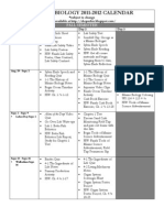 2011-2012 Calendar for Marine Biology