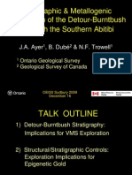 Strat & Metallogenic Comparison of Detour-Burntbush w South Abitibi_Ayer Et Al_Dec 2009