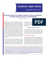 Restructuring the U.S. Military Presence in Korea