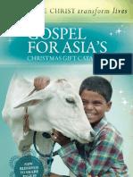 Gospel for Asia Christmas Catalog 2011