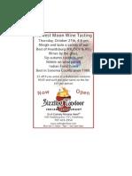 Harvest Moon Wine Mingle - 10272011