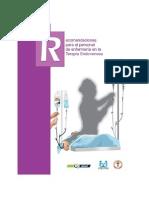 Recomendaciones Específicas para Enfermería sobre el Proceso de Terapia Intravenosa