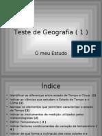 Teste de Geografia ( 1 )