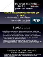 2008-01 Mapping the Conflict - Borders - Part 2 - Negotiating Borders (thus far)