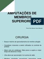 Aula V - Níveis de Amputação de MMSS