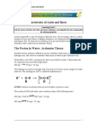 Acids and Bases (Summary)