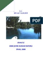 SİVAS İLİ Cevre durum raporu 2008