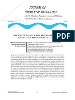 2009 JEH D'Urquiza de Anda & Nelson -Water Balance Tropical Dams