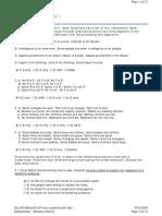 Indiainfoline - Business School -- CAT FULL LENGTH TEST 1
