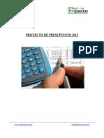 Resumen Proyecto Presupuesto 2012