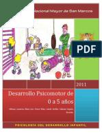 Desarrollo psicomotor (0 a 5 años)