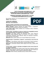 Seminario 'Periodismo, participación y cultura'