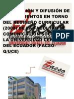 Gabriela Pantoja- Rediseño Curricular FACSO 2008