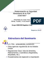 Acta de Modernización en Seguridad Alimentaria de la FDA