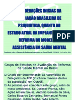 A REFORMA DO MODELO DE ASSISTENCIA EM SAUDE MENTAL -CONTEUDO