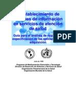 El establecimiento de sistemas de informacion en servicios de atencion de salud-guia para el analisis de requisitos