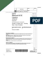 Edexcel A-LEVEL CHEM5-January-2007-QP