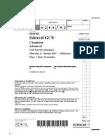 Edexcel A-LEVEL CHEM6B January 2007 QP