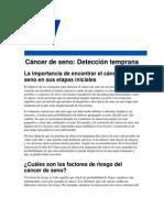 Cancer de Seno. Deteccion Temprana