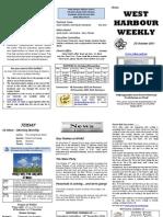 WHAC Newsletter for October 23, 2011