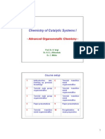 Les Chemistry of Catalytic Systems I
