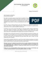Carta Presidente Plebiscito 18 Octubre