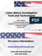 Cyber Attack Investigative Tools and Technologies