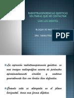 5-Radiotransparencias Quisticas So Lit Arias Que No Contactan Con Los