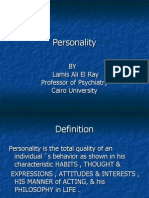 Lecture of Personality