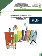 Planeador de Ingles en Preescolar Ciclo Escolar 2011-2012