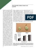 Nano-agriculture – carbon nanotubes enhance tomato seed