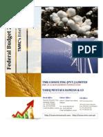Federal Budget 2011-12 TMRCs Comments