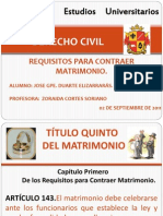 Exp. Requisitos Matrimonio