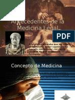 Antecedentes de La Medicina Legal