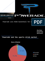 Study of Powerade's 2011 March Madness Campaign