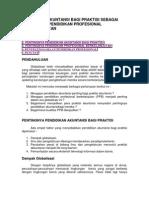 Pendidikan Akuntansi Bagi Praktisi