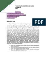 Pentingnya Pemahaman Akuntansi Oleh Akuntan Manajemen