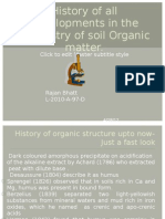 History of Organic matter analysis along with the instrumentations upto now