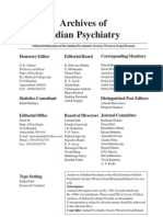 Archives of Indian Psychiatry October