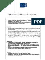 Résultats trimestriels Icade - T3 2011