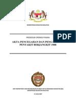(Sop)Akta Pencegahan Dan Pengawalan Penyakit Berjangkit 1988