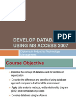 Develop Database Using Ms Access 2007