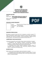SAP-Manajemen Produksi TV