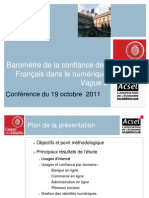 Baromètre Identité numérique 2011