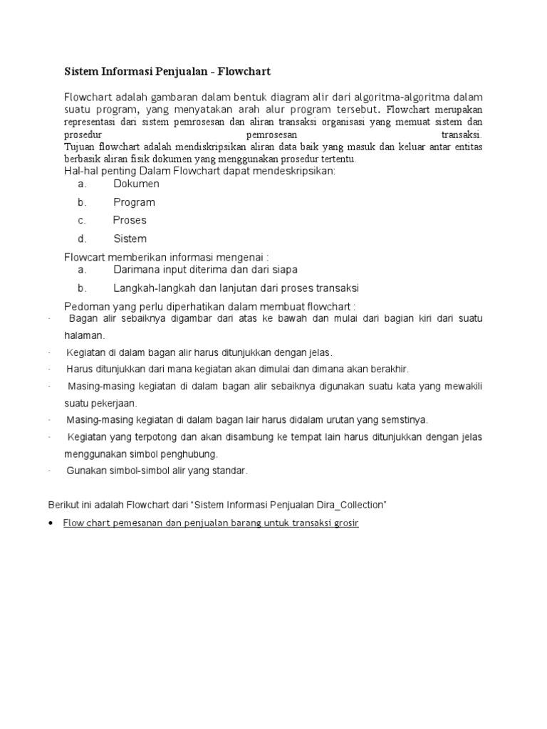 Sistem informasi penjualan flowchart ccuart Gallery