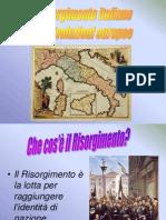 Il Risorgimento Italiano e Le Rivoluzioni Europee