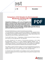 Comparison of Air Samplers for Environmental Monitoring Regarding ISO 14698