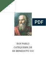 San Pablo - Catequesis de Benedicto XVI
