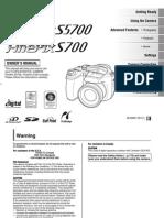 Fujifilm FinePix_S5700 Manual
